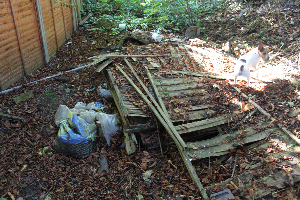 rubbish dumped on the Parkland walk