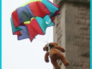 Parachuting Teddies
