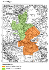 North London Areas Map.North London Magazines Distribution Maps Becky Beach