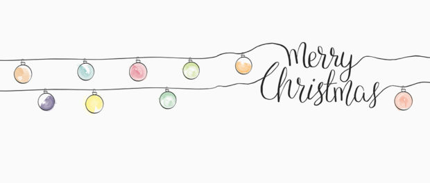 Drawing of Christmas lights