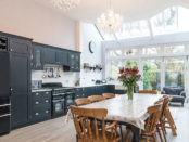 Large kitchen Diner with glass roof extension