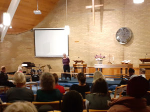community meeting in church