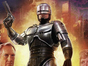 "Poster of ""Robocop"" ready for battle"