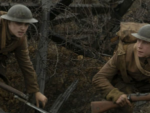 Two soldiers in a trench from film 1917
