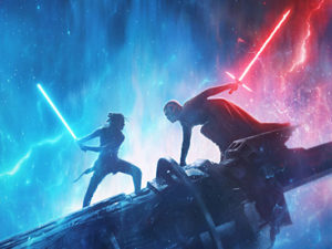 Fight scene with Light Sabres from Star Wars