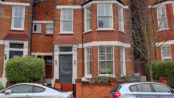 Street view of brick, Mid terrace period residence for Sale